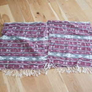 XL aztec, tribal print poncho